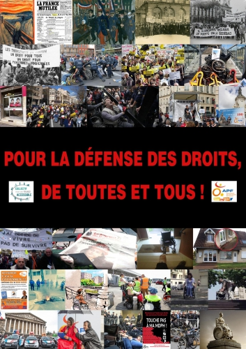 Affiche, défense, droits, personnes handicapées